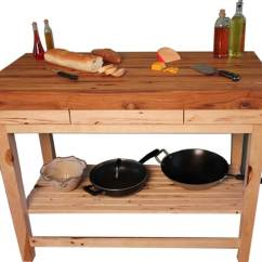 Hickory Kitchen Island Cabinets Hardware Butcher Block Mcclure Tables 36 X 24 3 Cart
