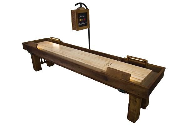 12 Foot Dakota Shuffleboard Table Mcclure Tables Reclaimed Wood