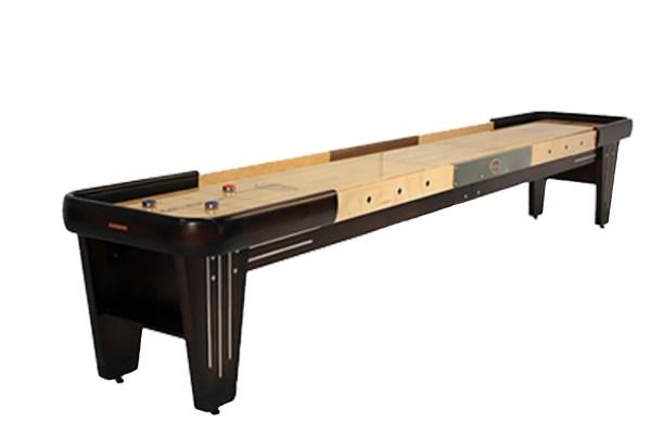 12 Foot Rock-ola Walnut Shuffleboard Table Mcclure Tables