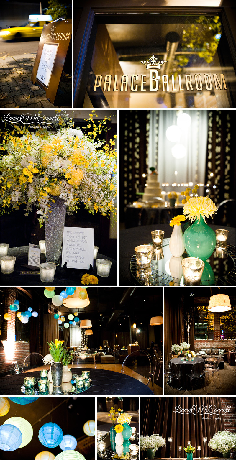 A Stunningly Modern Turquoise  Yellow Affair at the