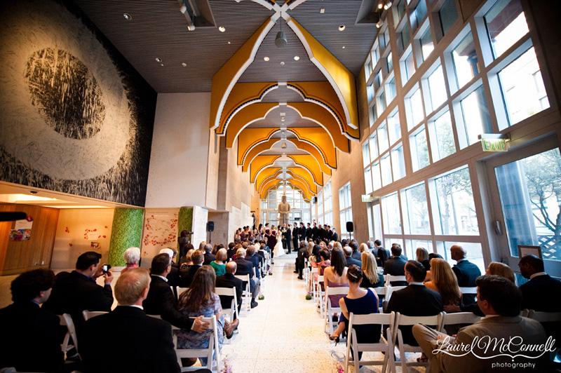 Stellar Seattle Art Museum Wedding  Laurel McConnell Photography