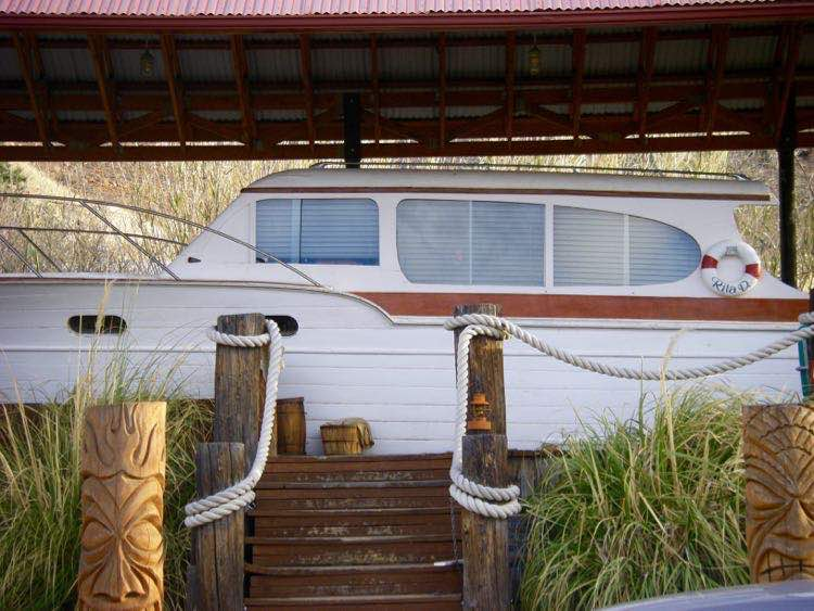 1947 Chris Craft Yacht at Shady Dell in Bisbee Arizona