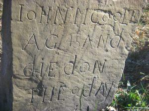 John McCoole cemetery tombstone in Virginia