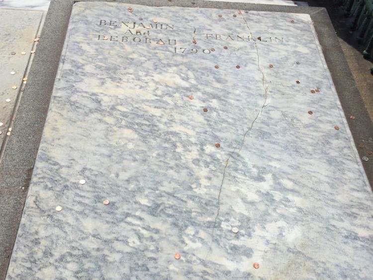 Benjamin Franklin grave in Philadelphia