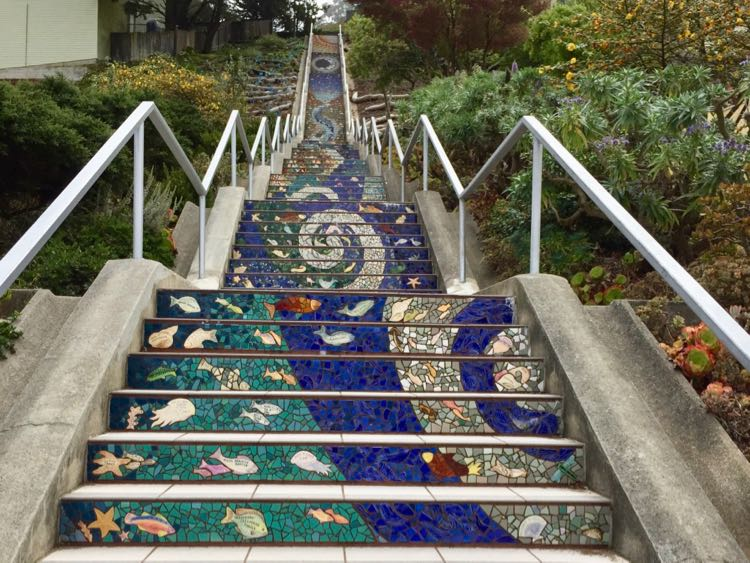 16th Ave Tiled Steps in San Francisco CA