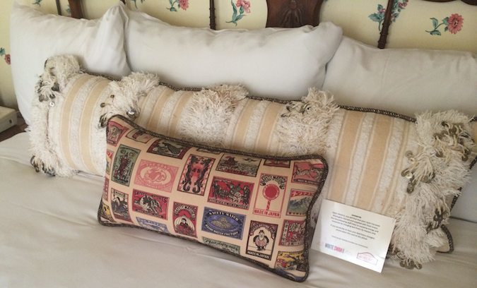 comfy pillows at Petite Auberge