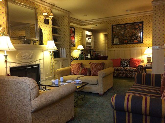 public lobby of Petite Auberge Inn in San Francisco