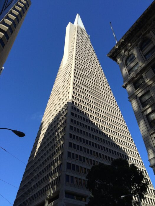 view of The Pyramid Building in San Francisco California