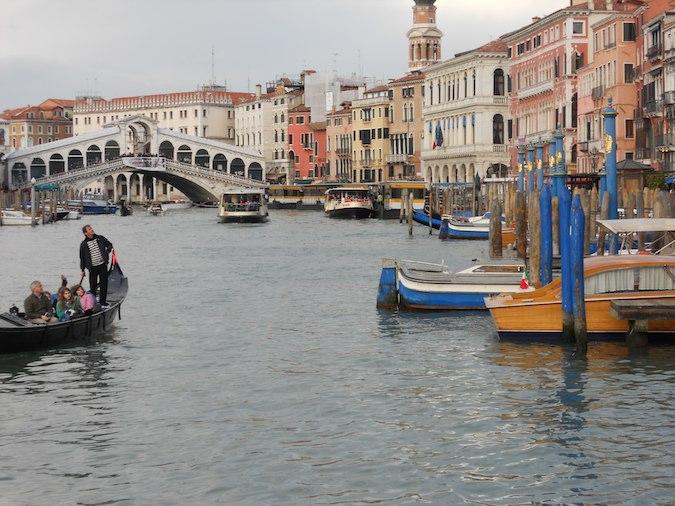 panoramic scene of Gran Canal in Venice