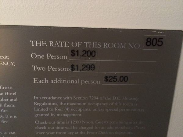 Kimpton Hotel George room rates