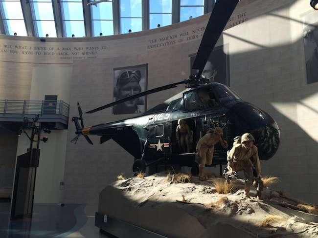 Marine museum helicopter exhibit