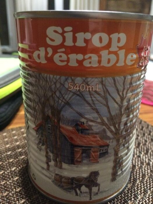 yummy maple syrup in Quebec
