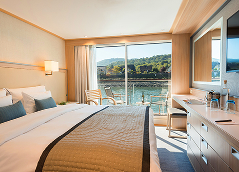 Longship Veranda Stateroom; photo credit: Viking River Cruises