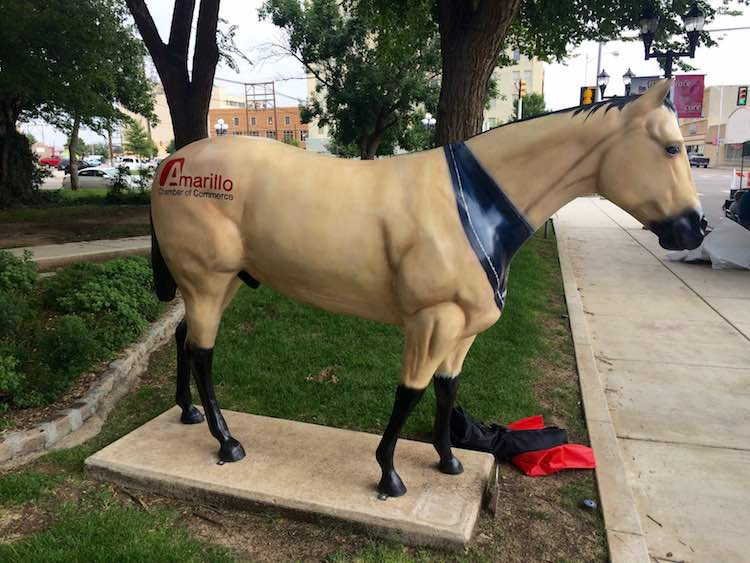 Hoof Prints statue in Amarillo TX