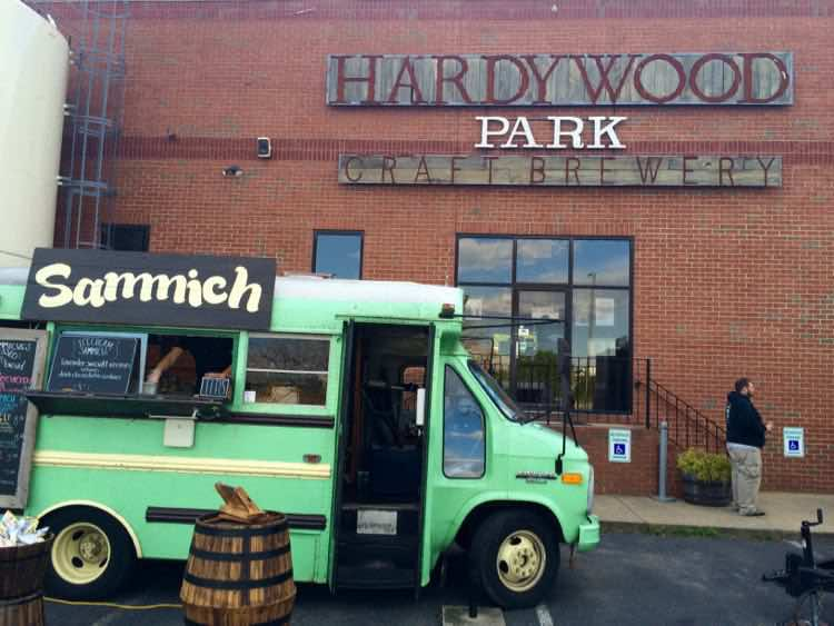food truck at Hardywood Park Craft Brewery