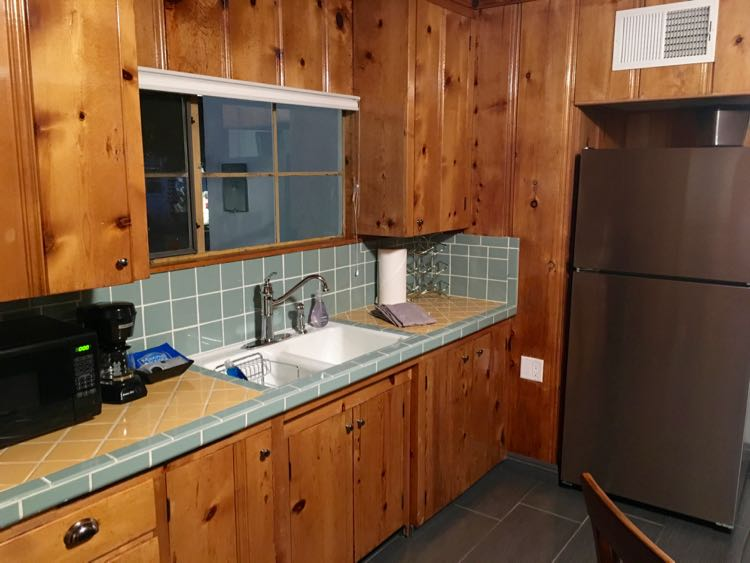 original 1950s wood kitchen in Palm Springs home