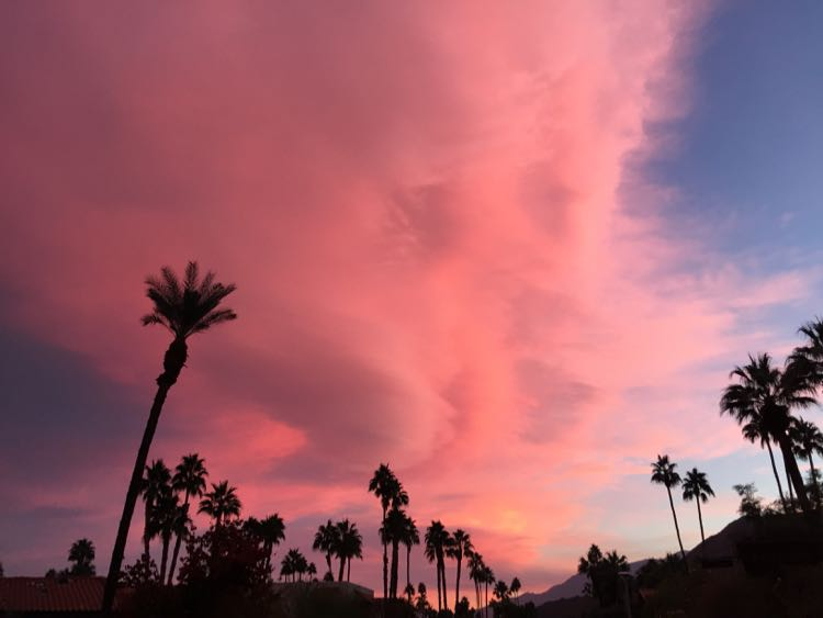 Palm Springs California sunset