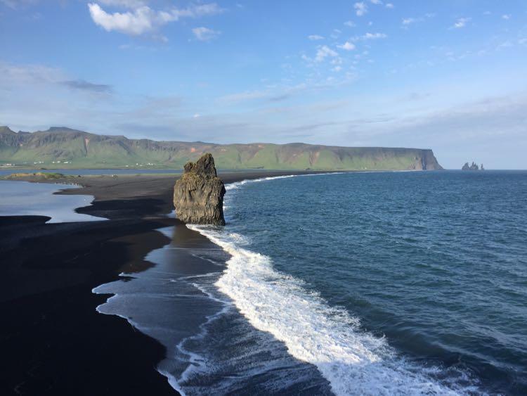 Reynisfjara Beach from lighthouse Iceland