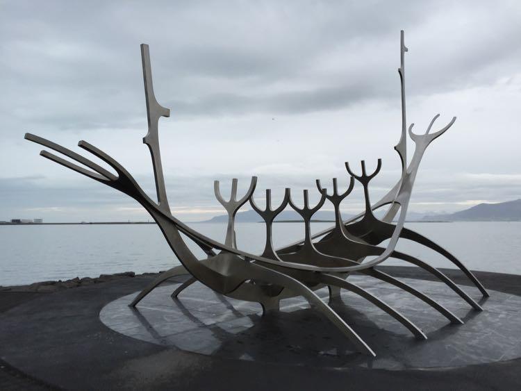 Sun Voyager sculpture Rejkyavik Iceland
