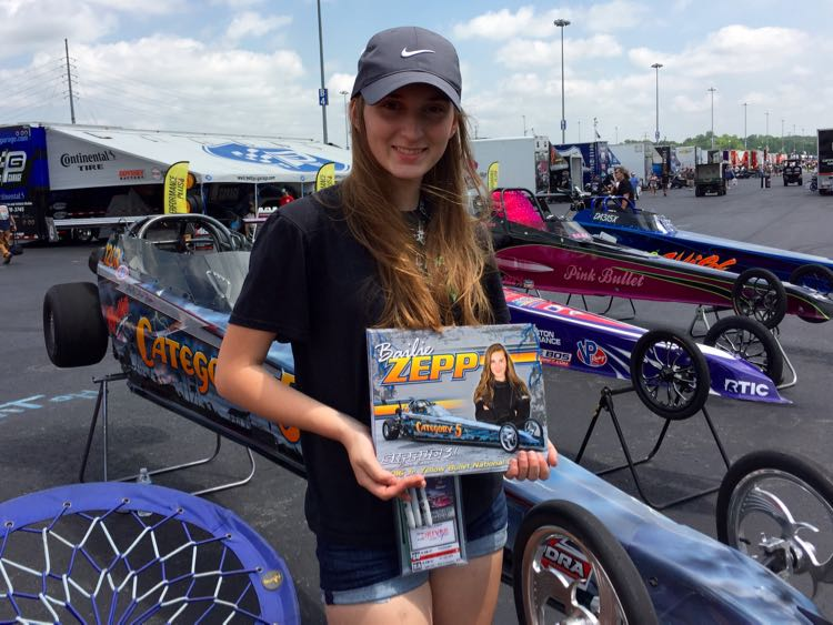 Young racer at zMAX Dragway pit Cabarrus County NC