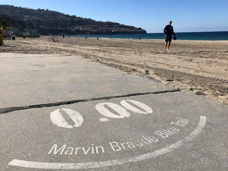Mile 0.0 of The Strand in Southern California.photo credit: Julie from FuninFairfaxVA.com