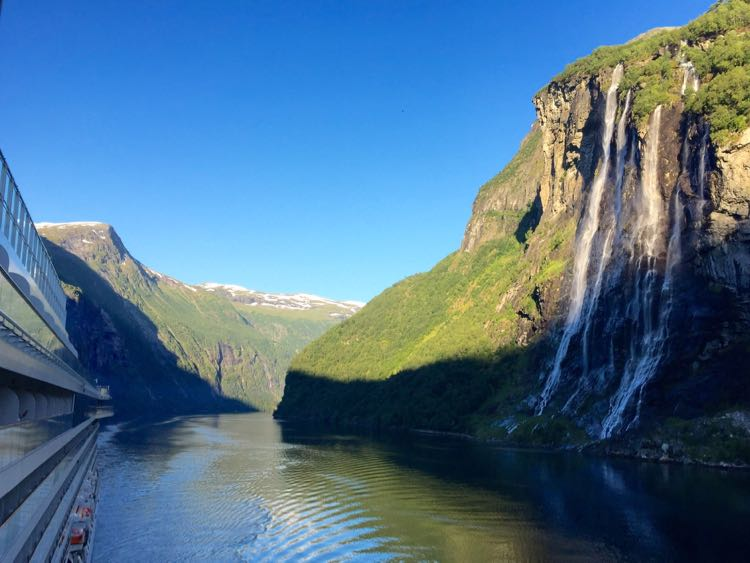Viking Cruises Into the Midnight Sun fjord view