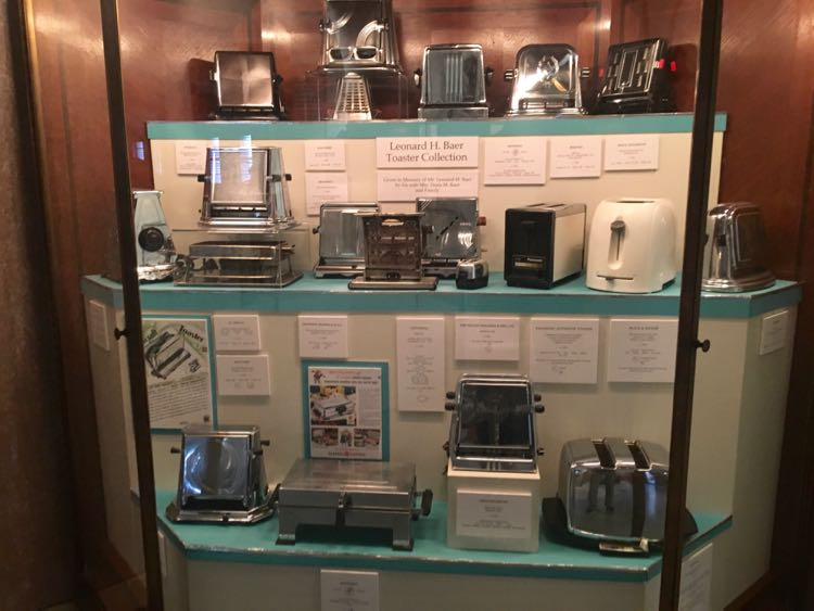 toaster collection at Lightner Museum