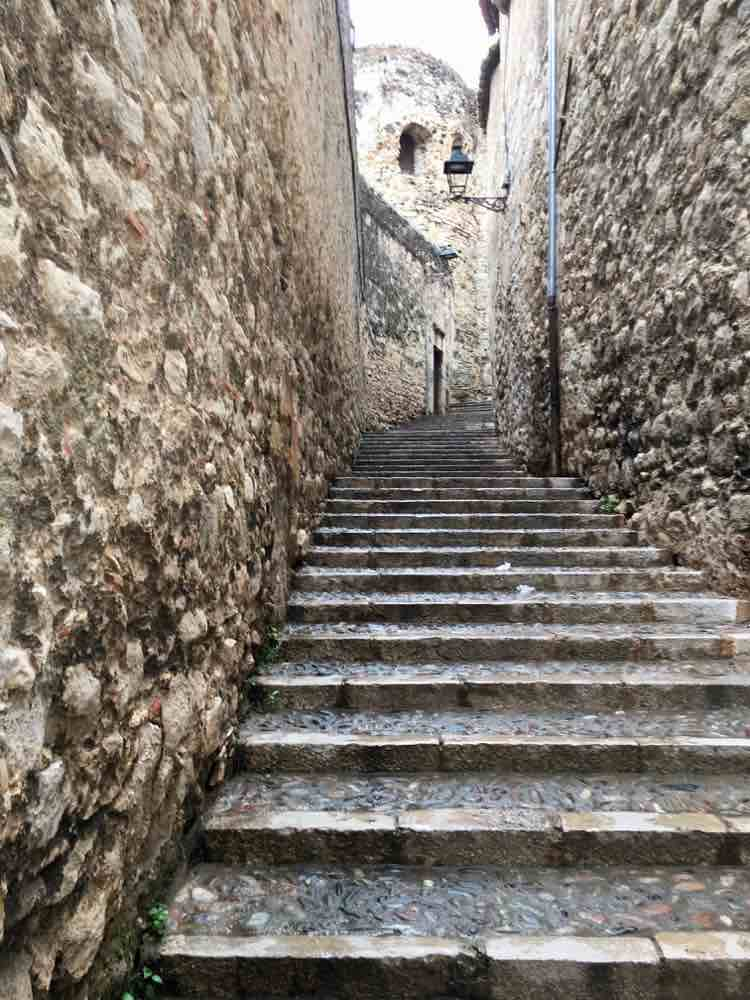 places to see in Costa Brava Spain: medieval Girona and Game of Thrones location. Article and photo by Charles McCool for McCool Travel