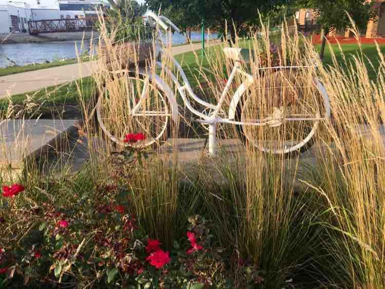 public art along Beloit Riverside Corridor Trail