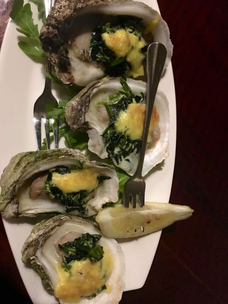 oysters at Clara Bo & Gatsby Wine Bar in Beloit WI
