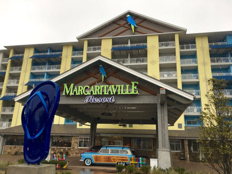 entrance of Margaritaville Resort Gatlinburg