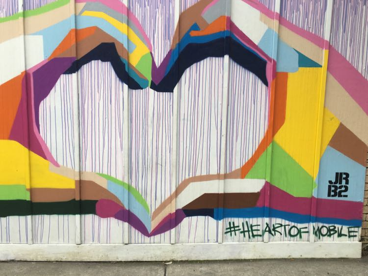 colorful Heart of Mobile wall mural