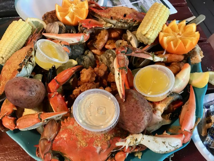 A fresh caught feast at Peace River Seafood in Punta Gorda FL