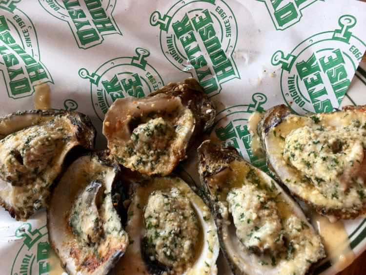 fire-grilled oysters