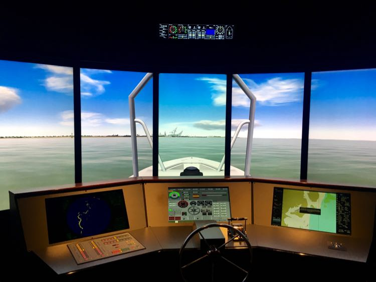 simulated cargo ship experience at GulfQuest