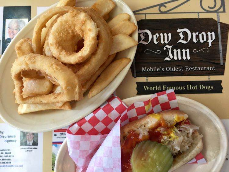 lunch items at Dew Drop Inn in Mobile Alabama