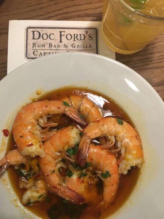 fresh Gulf shrimp at Doc Ford's Captiva Island