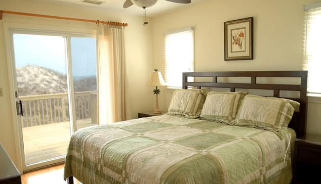 master bedroom of a vacation home in Outer Banks