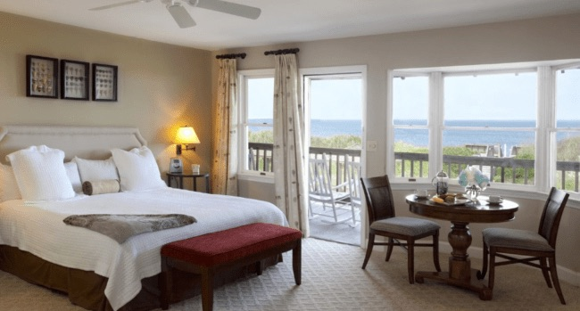 oceanfront room at Sanderling Resort