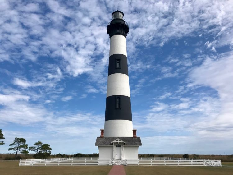 Cape Hatteras is one of several OBX lighthouses