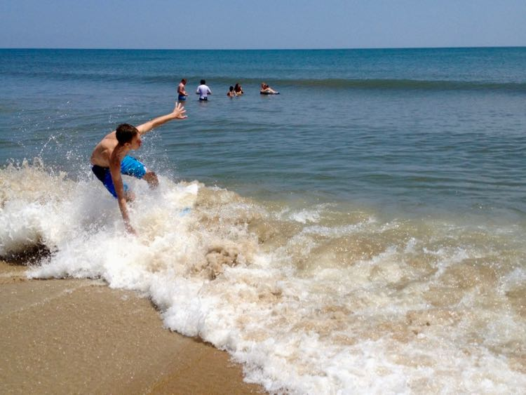 Skimboarding on the Outer Banks NC