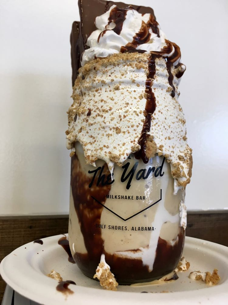 S'mores milkshake from The Yard in Gulf Shores, Alabama