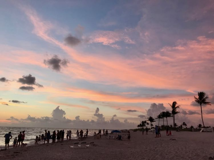 Guests gather for a sunset tradition on Captiva Island