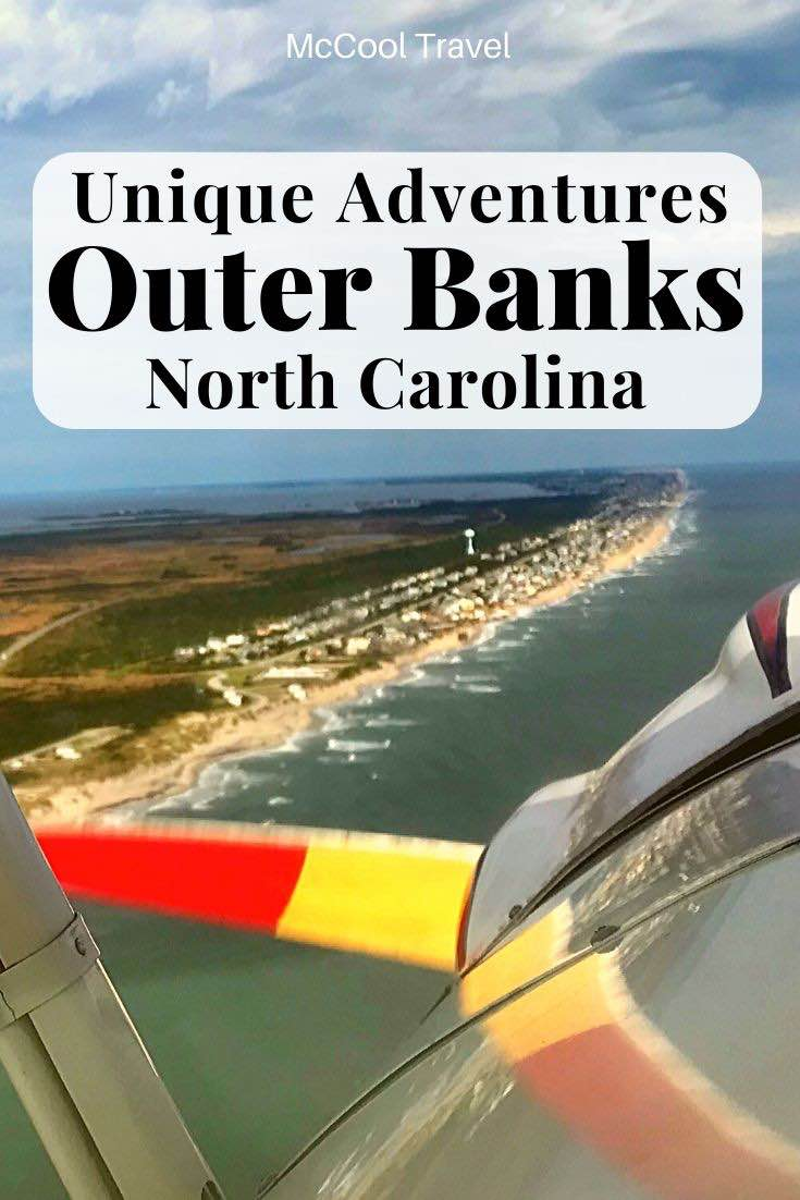 Unique activities and fun things to do in Outer Banks North Carolina include an open air cockpit biplane.
