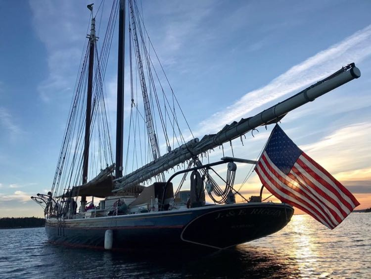 Another lovely sunset on a Maine Windjammer cruise aboard J&E Riggin