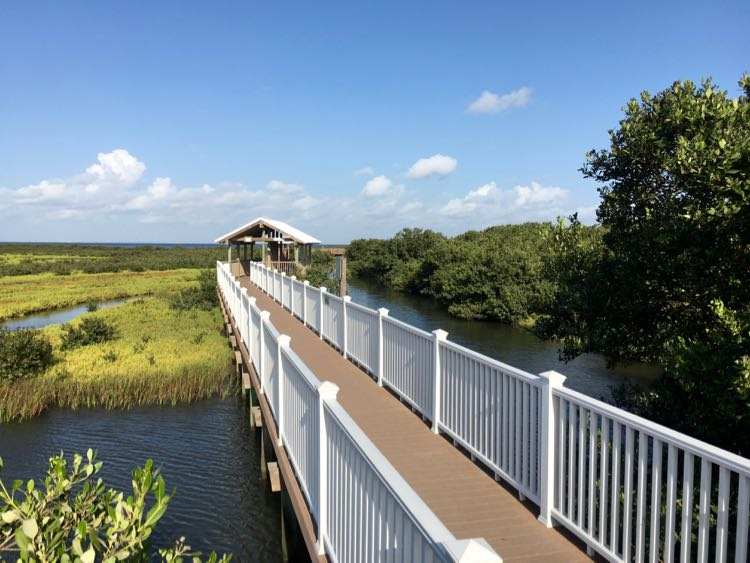 boardwalk at SPI Birding, Nature Center, & Alligator Sanctuary