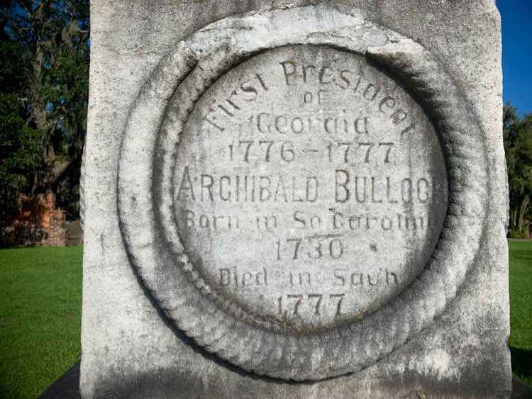 1777 tombstone at Colonial Park Cemetery