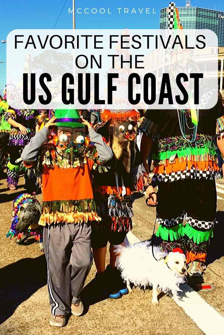 A guide to the most fun, favorite US Gulf Coast events and festivals in Florida, Alabama, Louisiana, Mississippi, and Texas for a great time all year long.