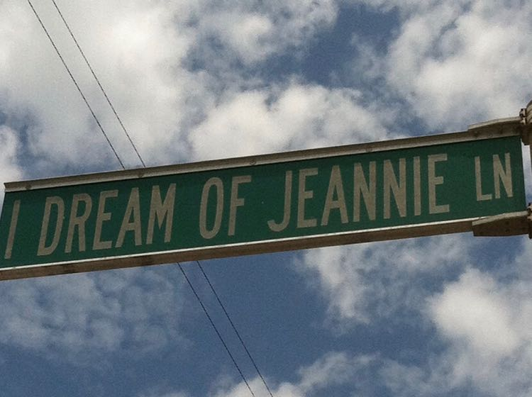 I Dream of Jeannie Lane street sign