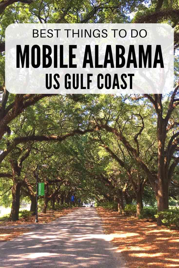 Things to do in Mobile Alabama include remarkable restaurants, cool museums, fun outdoor adventures, gorgeous oaks, oldest US Mardi Gras, and so much more. #travel #thingstodo #MobileAlabama